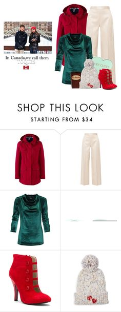 """""""Toques"""" by maggiecakes ❤ liked on Polyvore featuring Lands' End, The Row, Rebecca Minkoff, Mojo Moxy and Bow & Drape"""