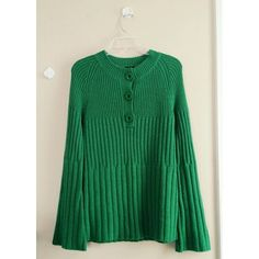 0fcfddc120 Moda International Green Bell Sleeve Sweater $10 Love Clothing, Sweaters  For Women, Bell Sleeves