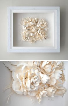 Paper Flower Cluster - I would love to do this with yellow roses or blue bonnets as a big cross in the hallway