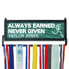 Running Medal Display - personalized