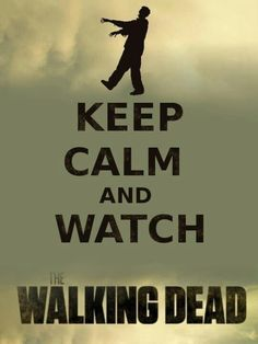 Keep calm and watch the walking dead like seriously have you seen this show its AMAZING I can't wait till February 16 for the new season. Walking Dead Zombies, Fear The Walking Dead, Best Tv Shows, Best Shows Ever, Plus Tv, Keep Calm Quotes, Dead Inside, Me Tv, Zombie Apocalypse
