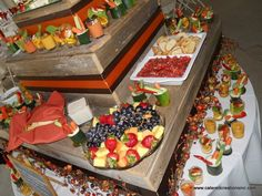 Catering - Mezze Appetizer Station - create visual height with different items