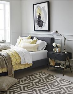 Love the grey and mustard yellow colours together...