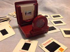 Vintage Ansco Pocket Slide Viewer with Slides 2x2 Kodak ektachrome transparency Agfa