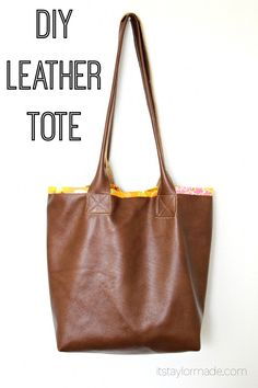 DIY Leather Tote with tips for sewing with leather