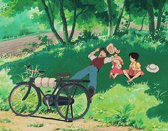 Studio ghibli,my neighbor totoro,hayao miyazaki Studio Ghibli Art, Studio Ghibli Movies, Hayao Miyazaki, Anime Kunst, Anime Art, Aesthetic Art, Aesthetic Anime, Animation, Familia Anime
