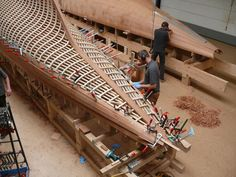 the beautiful craftsmanship of wooden boat building