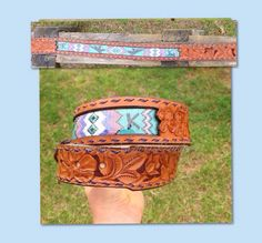 Custom beaded hand tooled belt , join us on face book DustyCowgirl Leather, www.dustycowgirlleather.com