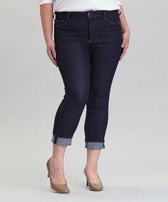 This NYDJ Dark Enzyme Bobbie Boyfriend Jeans - Plus by NYDJ is perfect! #zulilyfinds
