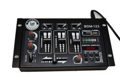 Introducing Blackmore's latest product the BDM-123. A simple, but unique DJ mixer,that will make an exponential asset to your DJ set . Manipulate music with the controls on your DJ MIXER to give your audience the best time they will ever experience. You will enjoy a complete range of performance essentials on the BDM-123 , including three channels you can control,MIC adjustment,usb port, mp3 control, talk over and Etc. Mic talkover switch makes it easy to dim the music while you speak.