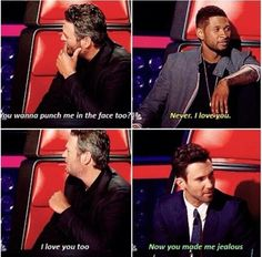The Voice. They could not have picked better people to be on this show. #Blake #Adam