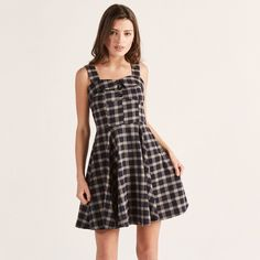 Apricot - Navy Check Vintage Dress Target Clothes, Navy Dress, Vintage Dresses, Check, Style, Fashion, Vintage Gowns, Swag, Moda