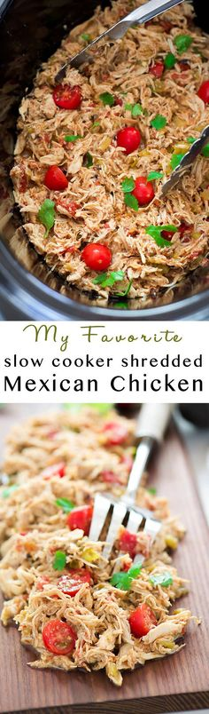 Slow Cooker Shredded Mexican Chicken | Crock Pot, Taco Seasoning, Easy Recipe, Dinners, Gluten Free, Paleo, Low Carb