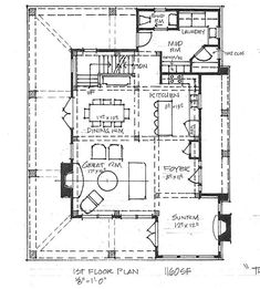 The Kettle - Timber Frame Home Floor Plan - Blue Ox Timber Frames
