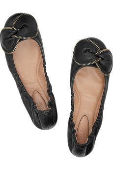 a22d6875a3f chloe zipper flats Chloe Ballet Flats