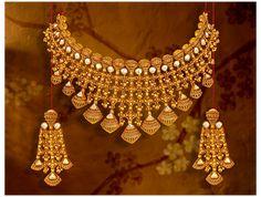 Gold Bangles Design, Gold Earrings Designs, Gold Jewellery Design, Dubai Gold Jewelry, Gold Designs, Diamond Jewellery, Necklace Designs, Tanishq Jewellery, Rajput Jewellery