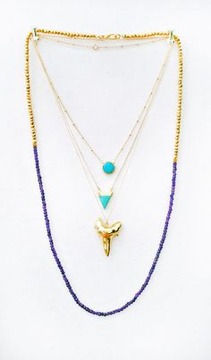 preorder 5/27  TURQUOISE coin bezel necklace by shopkei on Etsy, $44.00