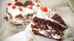Recipe from Black forest – A scrumptious yummy cake Chocolate Cake 1 No… Black Forest Cake, Fresh Cream, Cake Chocolate, Yummy Cakes, How To Make Cake, Make It Simple, Cake Recipes, Cherry, Sugar
