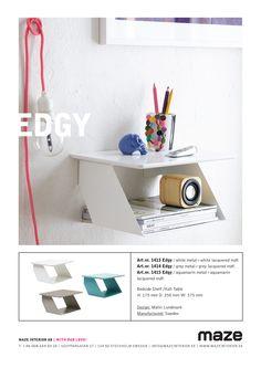 Maze Edgy Bedside Shelf, Maze, Floating Nightstand, Shelves, Interior, Furniture, Design, Home Decor, Floating Headboard