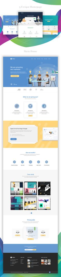 Tesla is a most unique SEO &Digital marketing PSD template It will be a smart choicefor SEO & Digital marketer business owner to sell their service.