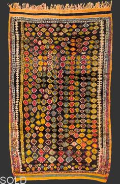 Berber carpet with an interesting pattern.