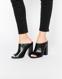 ASOS | Misguided Block Heeled Mules