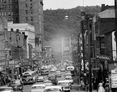 Steubenville, Ohio Main Street in what looks like the 1950s