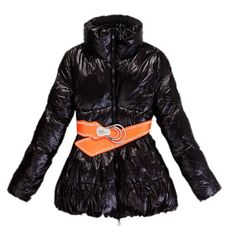 France Moncler New Black Coat Women Outlet Sale