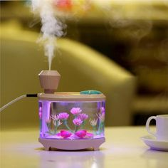 Fish Tank Lamp Humidifier for Home Office Travel, Creative Decoration