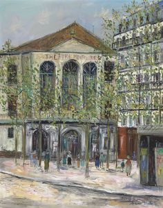 The Théâtre De L'atelier by Maurice Utrillo Handmade oil painting reproduction on canvas for sale,We can offer Framed art,Wall Art,Gallery Wrap and Stretched Canvas,Choose from multiple sizes and frames at discount price. Oil Painting Texture, Oil Painting On Canvas, Maurice Utrillo, Art Transportation, France Art, Post Impressionism, Great Paintings, Oil Painting Reproductions, Traditional Paintings