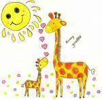 Design - sunny giraffes - by franta001, eines der Top10 von der Summertime Stoffparade