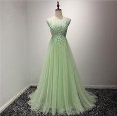 2017 Women's Sexy Ball Evening Dress Light Green