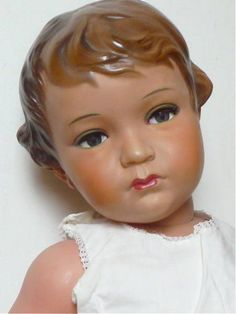 Amberg Doll 1928 All composition Vintage Dolls t Old Dolls, Antique Dolls, Vintage Dolls, Dollhouse Dolls, Miniature Dolls, Doll Toys, Baby Dolls, China Dolls, Creepy Dolls