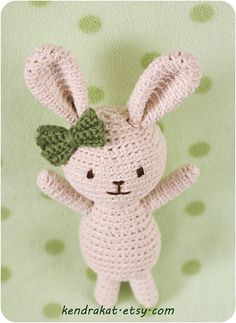 Roux the Rabbit Crochet Pattern by KendraKat on Etsy