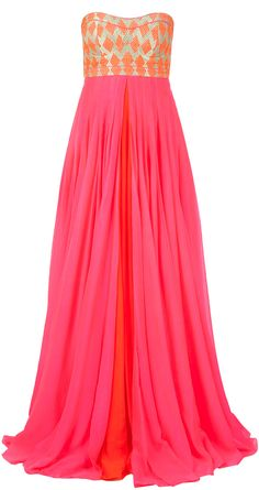 Pink textured bodice gown by Anita Dongre, great for wedding guests or bridesmaids!