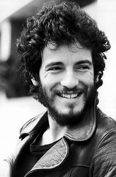 Bruce Springsteen photographed by Terry O'Neill, 1975.