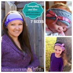 Tranquility and Ava Earwarmer Pattern