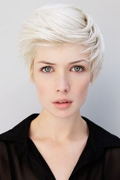 Abbey Lee isn't the only model on the platinum blonde hair band wagon, with New Zealand's Phoebe Farrell sporting the edgy tousled white pixie cut, with love.