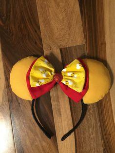 Back in Stock***Winnie the Pooh Ears, Custom Winnie the Pooh Mickey Ears, Disney Inspired Minnie Ear Diy Disney Ears, Disney Minnie Mouse Ears, Mickey Mouse Ears Headband, Disney Diy, Micky Ears, Disney Inspired Fashion, Disney Fashion, Inspired Outfits, Winnie The Pooh Ears