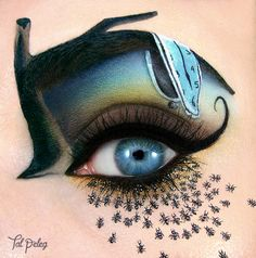 Creative eye make-up Creative Eye Makeup, Eye Makeup Art, Eyeshadow Makeup, Eyeshadow Palette, Makeup Drawing, Natural Eyeshadow, Green Eyeshadow, Makeup Artistry, Matte Eyeshadow