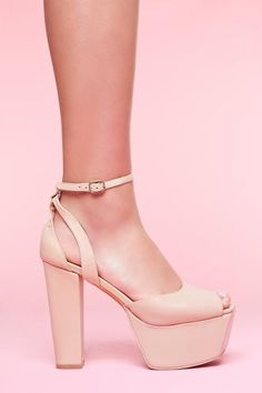 Perfect Platform - Nude Leather