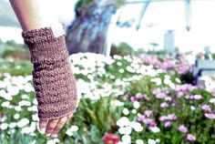 Cotton fingerless gloves lovingly hand knitted by Llama Leg Warmers, Fingerless Gloves, Hand Knitting, Fabric, Cotton, Handmade, Design, Fashion, Leg Warmers Outfit