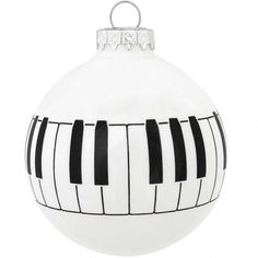 piano keyboard glass ornament