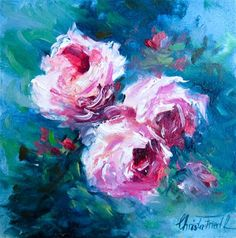 """Daily Paintworks - """"Roses for Valentine´s Day"""" - Original Fine Art for Sale - © Christa Friedl"""