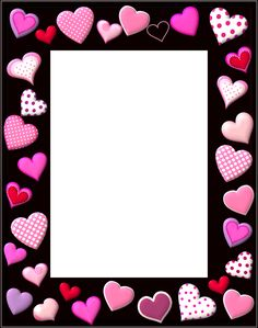 Free Valentines Day Graphics Whimsical Hearts Frame