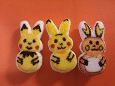 Pokemon Party: Pichu, Pikachu, & Raichu peeps