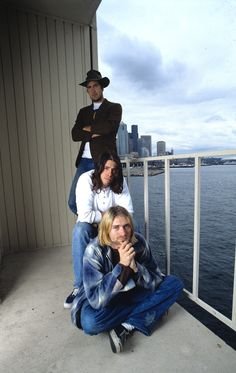 Krist Novoselic, Dave Grohl and Kurt Cobain #Nirvana - August 1993