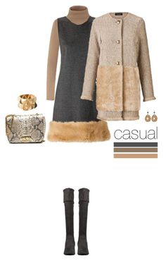"""""""Casual outfit: Gray - Beige"""" by downtownblues ❤ liked on Polyvore featuring Ana Alcazar and MYSUELLY"""