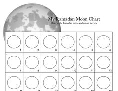 Worksheet for moon observation. moon chart