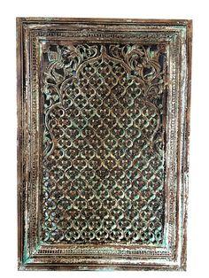 #Window #Indianfurniture Frame Antique Jharokha Window Floral Carved Wood Frame Architectural